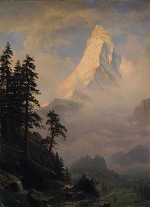Sunrise on the Matterhorn - Albert Bierstadt