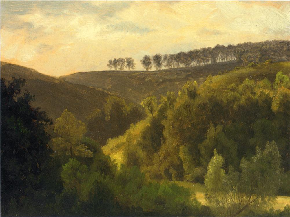 Sunrise over Forest and Grove - Albert Bierstadt