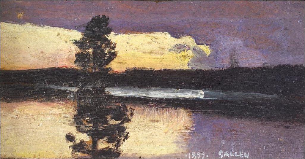 Sunset  - Akseli Gallen-Kallela