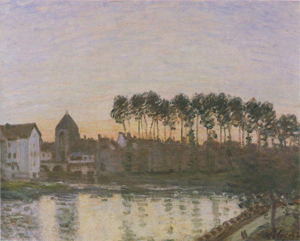 Sunset at Moret - Alfred Sisley