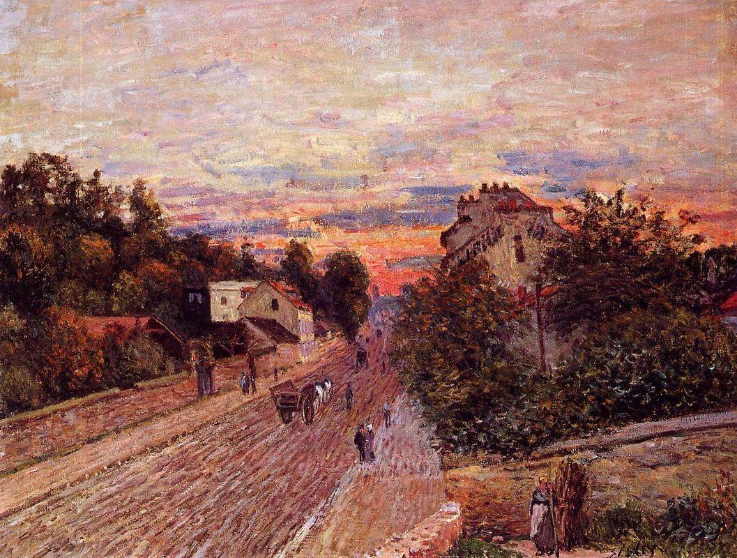 Sunset at Port Marly - Alfred Sisley