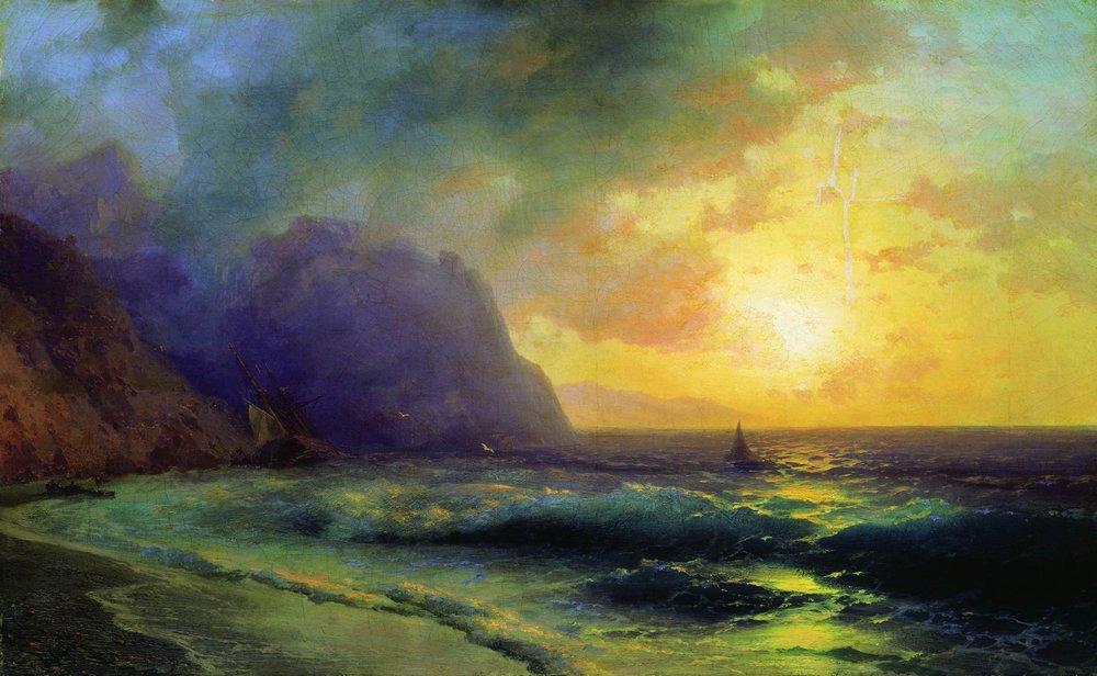 Sunset at Sea - Ivan Aivazovsky