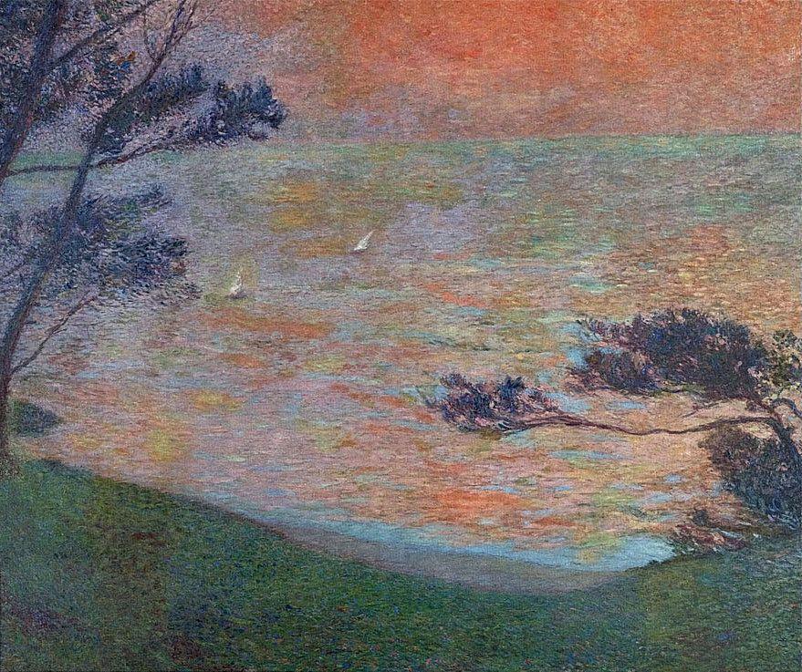 Sunset at Sea - Henri Martin