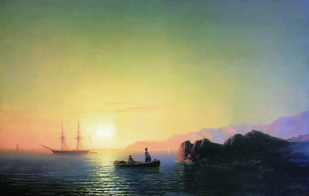 Sunset at the Crimean coast - Ivan Aivazovsky