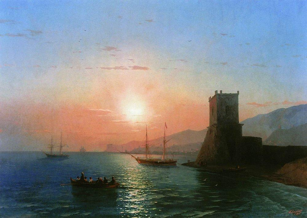 Sunset in Feodosia - Ivan Aivazovsky