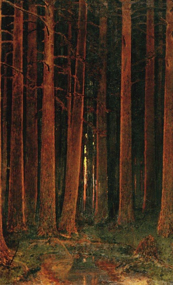 Sunset in the forest - Arkhip Kuindzhi