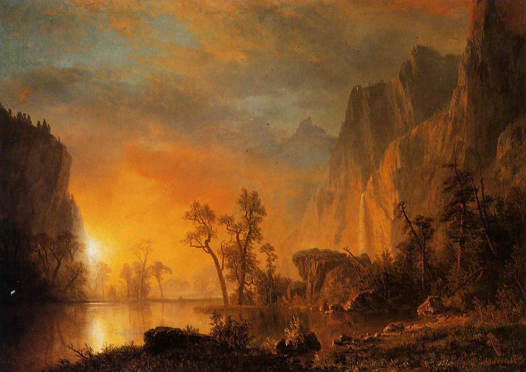 Sunset in the Rockies  - Albert Bierstadt