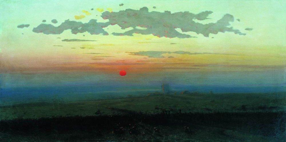 Sunset in the steppes - Arkhip Kuindzhi