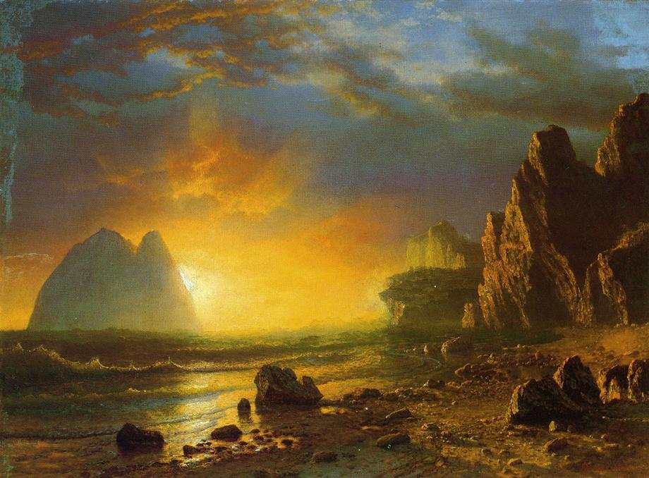 Sunset on the Coast - Albert Bierstadt