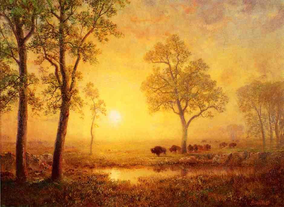 Sunset on the Mountain - Albert Bierstadt