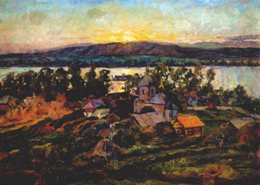 Sunset on the Volga - Aristarkh Lentulov