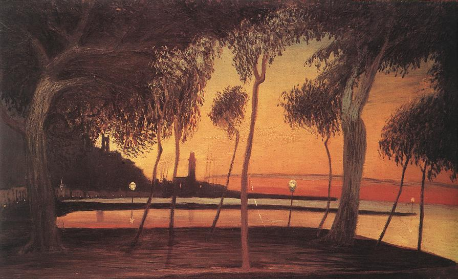 Sunset Over the Bay of Naples - Tivadar Kosztka Csontvary