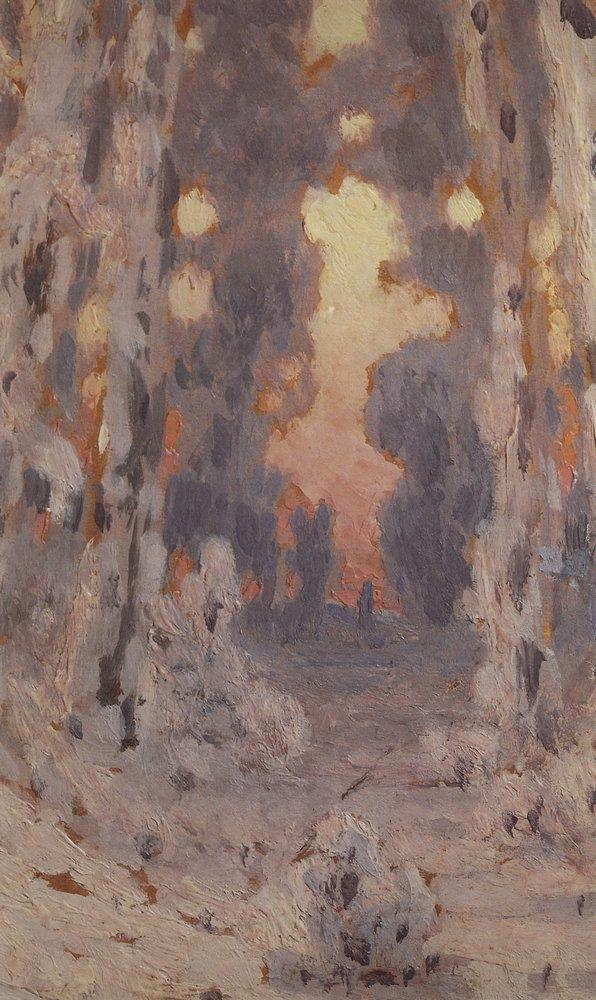 Sunspots on frost. Sunset in the forest - Arkhip Kuindzhi