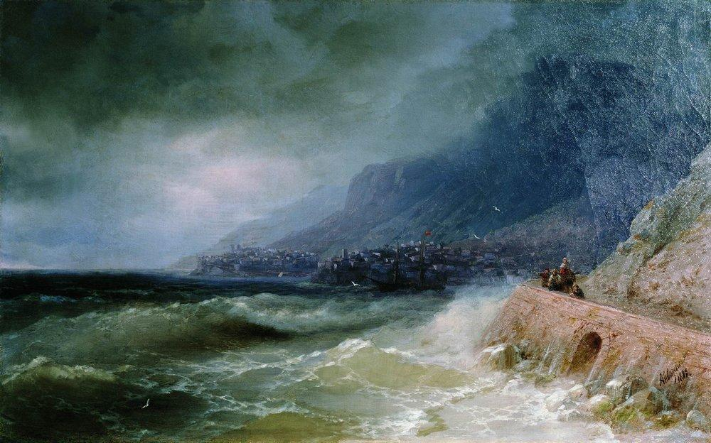 Surf near coast of Crimea - Ivan Aivazovsky