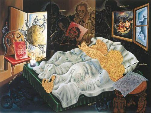 Surrealistisches Tribunal I - Jorg Immendorff