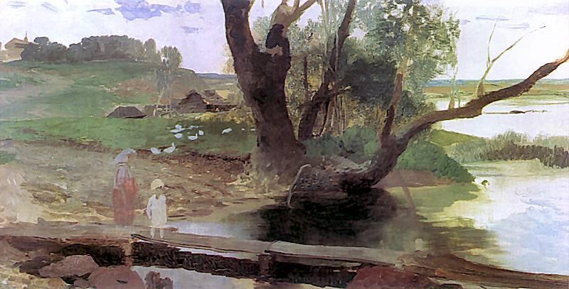Svislach Landscape - Henryk Siemiradzki
