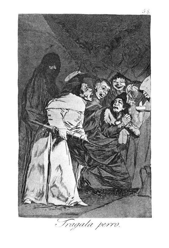 Swallow it, dog - Francisco Goya
