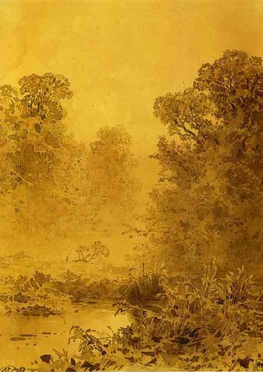 Swamp in a Forest. Mist - Fyodor Vasilyev