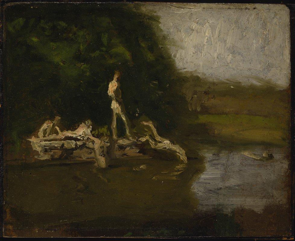 Swimming Hole sketch - Thomas Eakins
