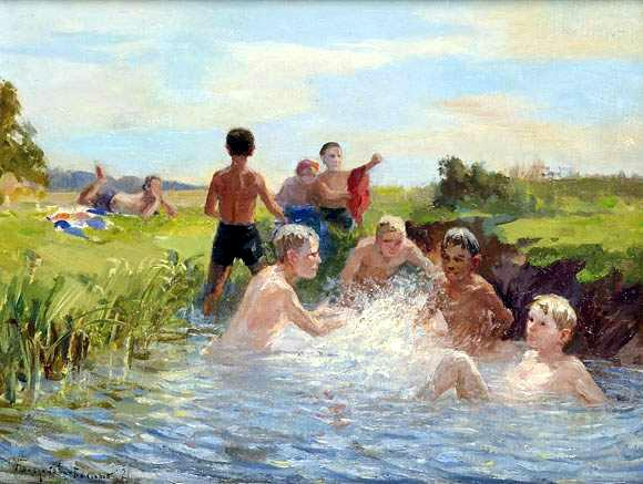 Swimming - Nikolay Bogdanov-Belsky