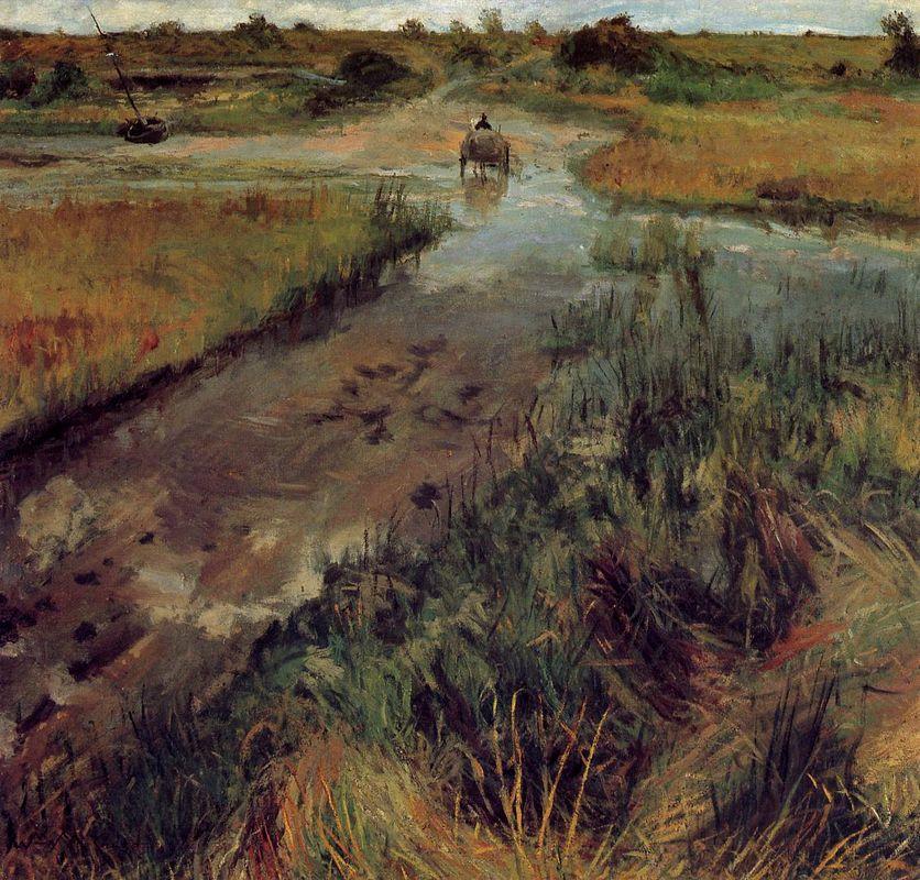 Swollen Stream at Shinnecock - William Merritt Chase