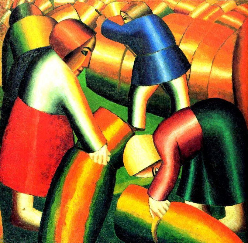 Taking in the Harvest - Kazimir Malevich