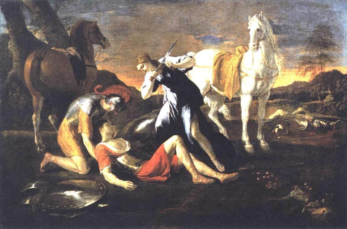 Tancred and Erminia - Nicolas Poussin