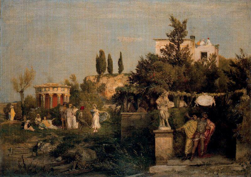 Tavern in ancient Rome - Arnold Bocklin