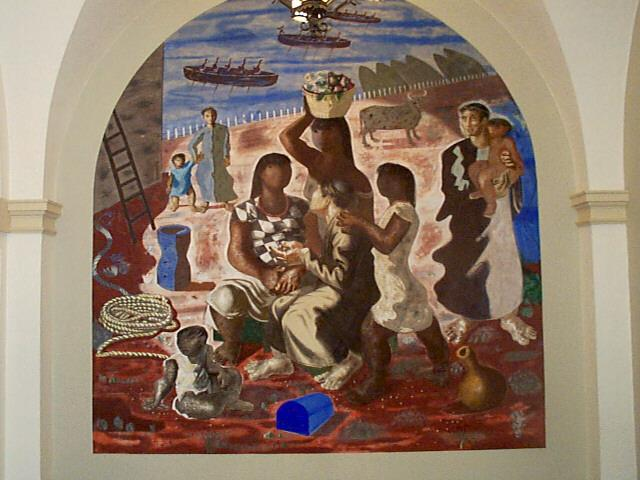 Teaching of the Indians - Candido Portinari