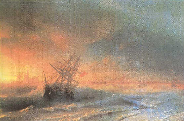 Tempest above Evpatoriya - Ivan Aivazovsky