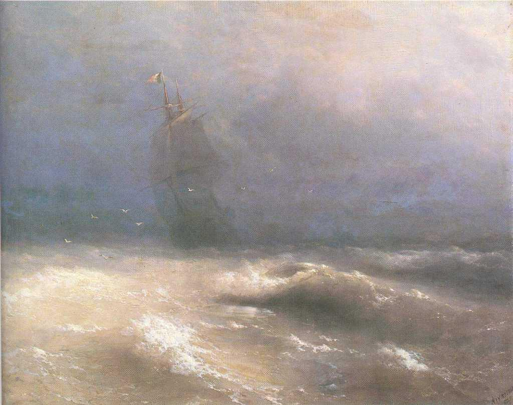 Tempest by coast of Nice - Ivan Aivazovsky