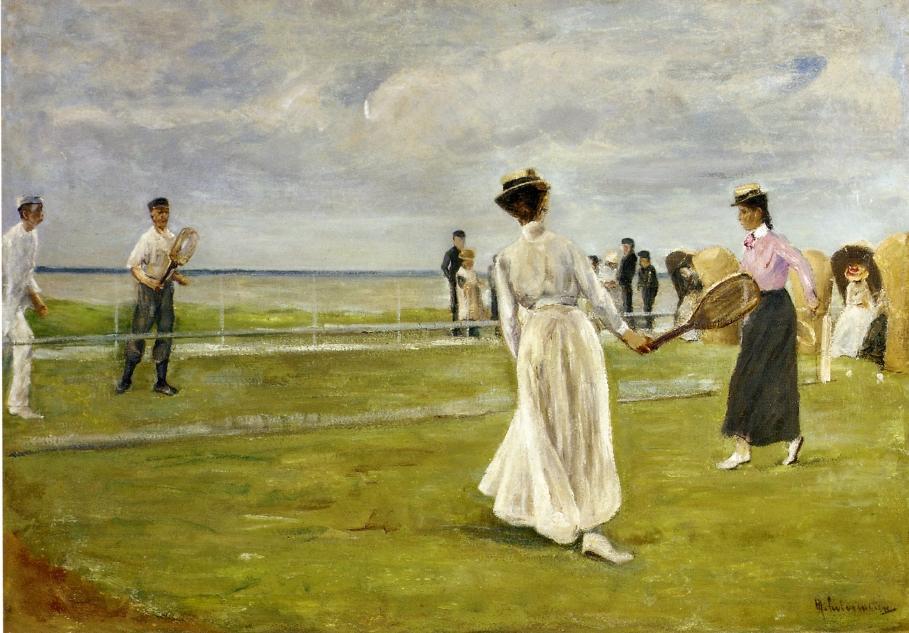 Tennis Game by the Sea - Max Liebermann