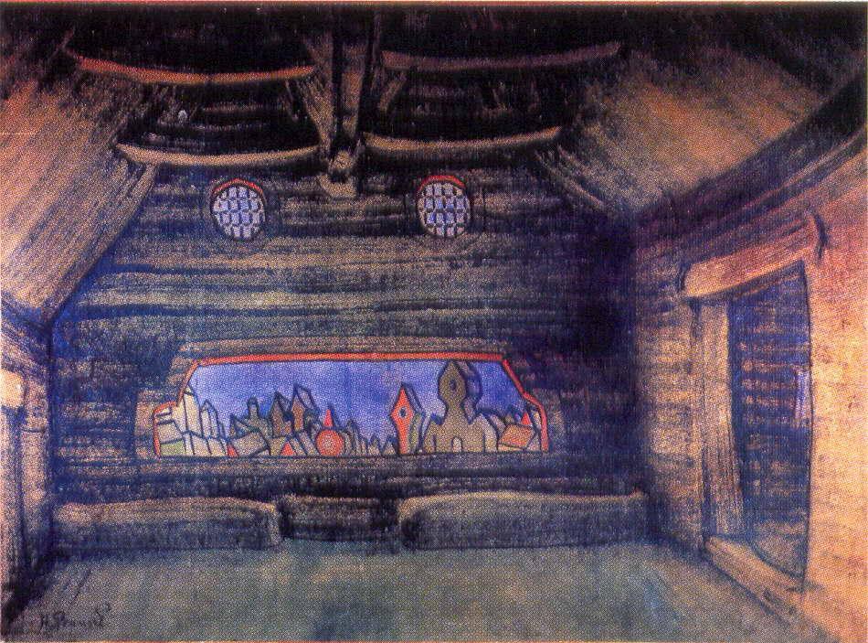 Terem of Yaroslavna. New moon. - Nicholas Roerich
