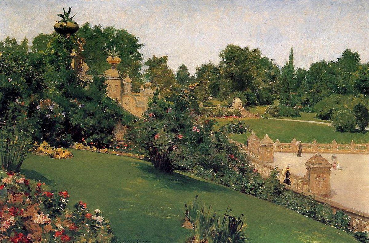 Terrace at the Mall, Cantral Park - William Merritt Chase