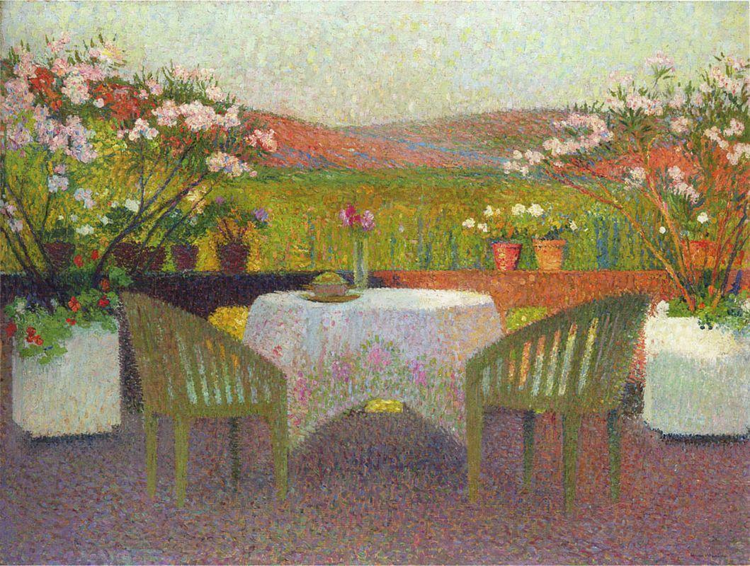 Terrace in Marquayrol - Henri Martin