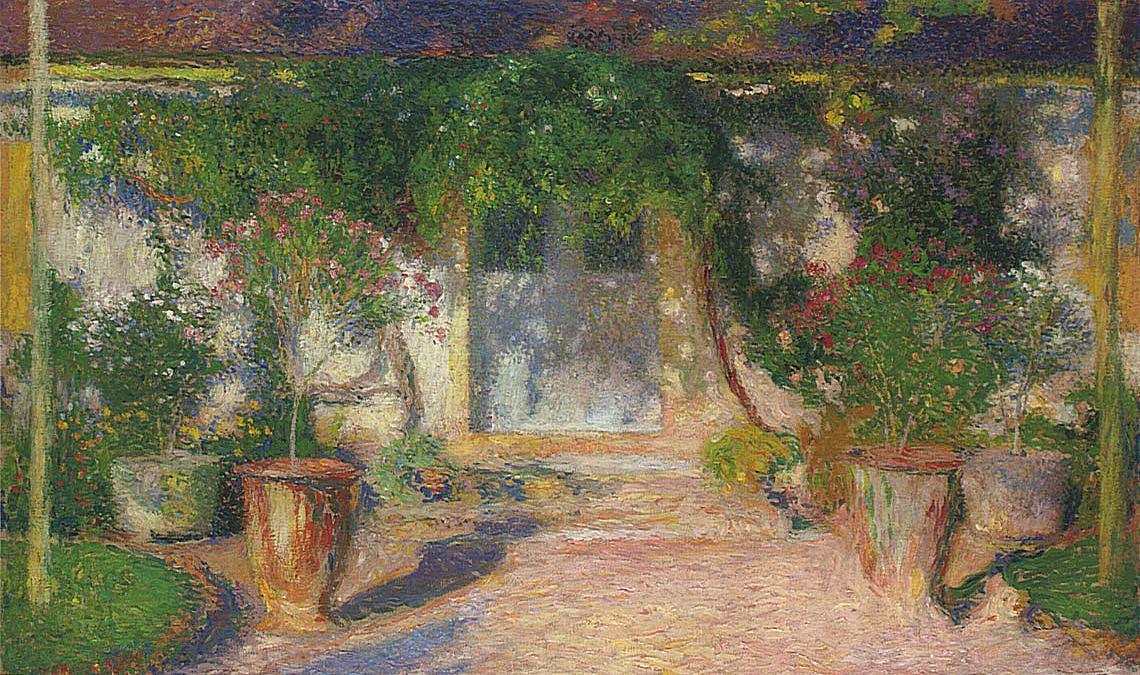 Terrace in Sun - Henri Martin