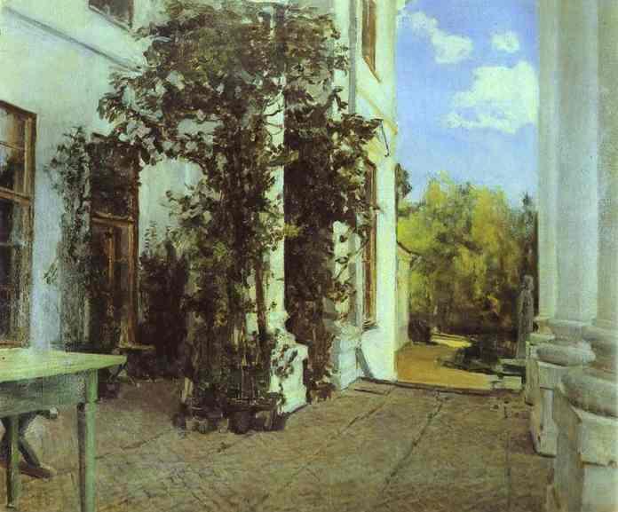 Terrace in Vvedensk - Valentin Serov