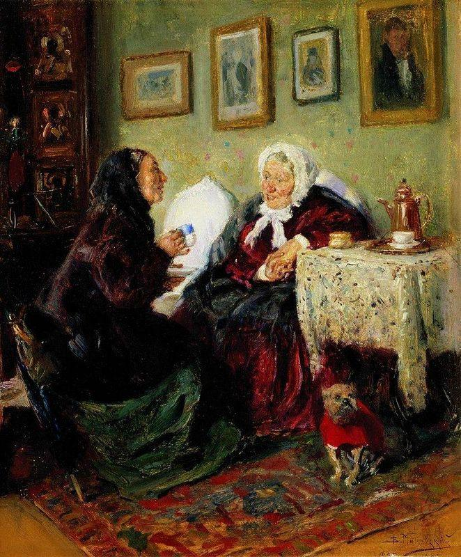 Результат изображения для Tete-a-Tete - Владимир Маковский.  Третьяковская галерея.