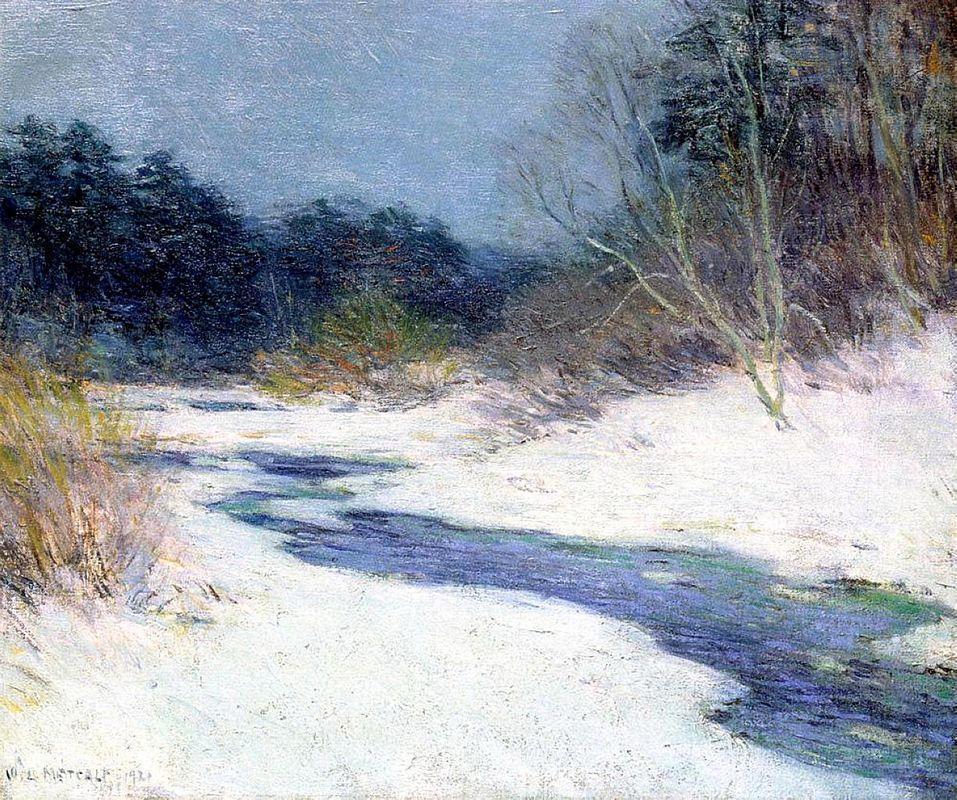 Thawing Brook - Willard Metcalf