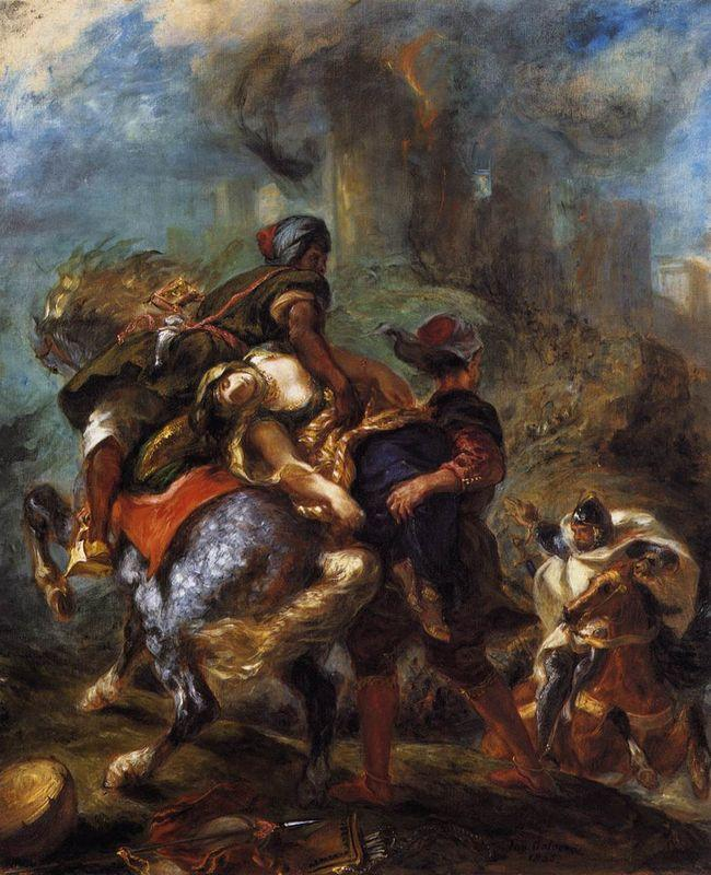 The Abduction of Rebecca - Eugene Delacroix
