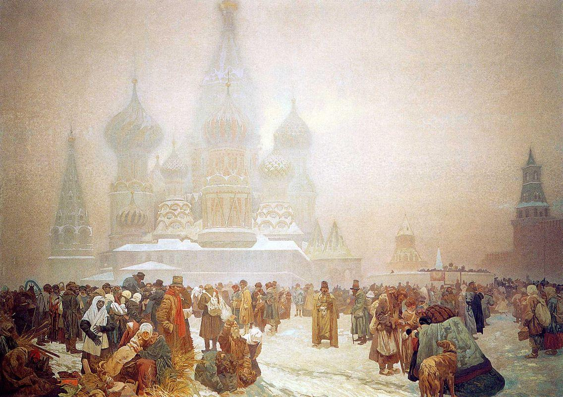 The Abolition of Serfdom in Russia - Alphonse Mucha
