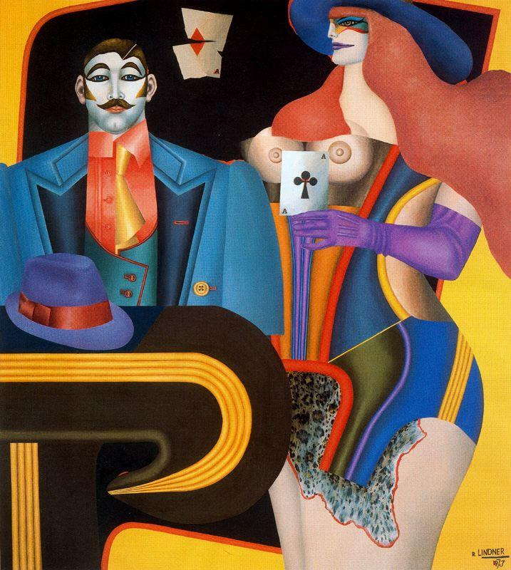 The Ace of Clubs - Richard Lindner