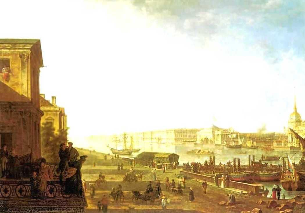 The Admiralty and the Winter Palace viewed from the Military College - Fyodor Alekseyev