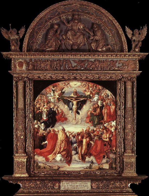 The Adoration of the Holy Trinity (Landauer Altar) - Albrecht Durer