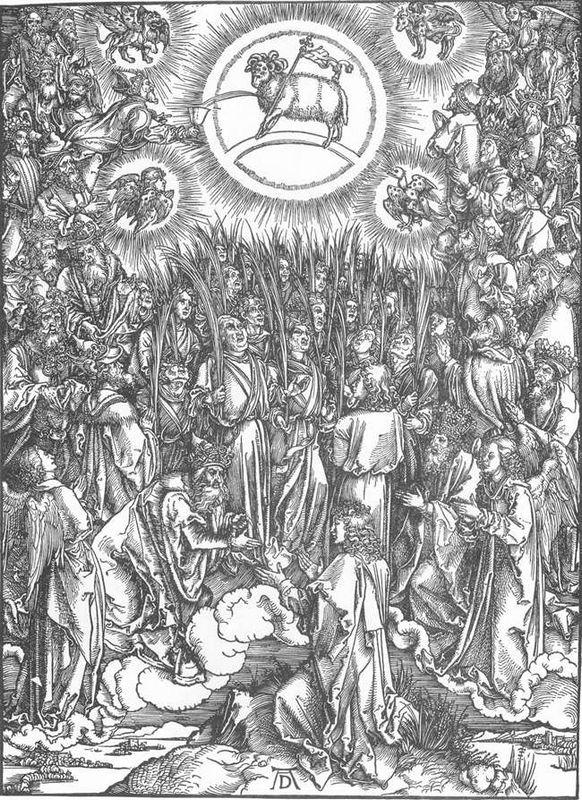 The Adoration of the Lamb and the Hymn of the Chosen - Albrecht Durer
