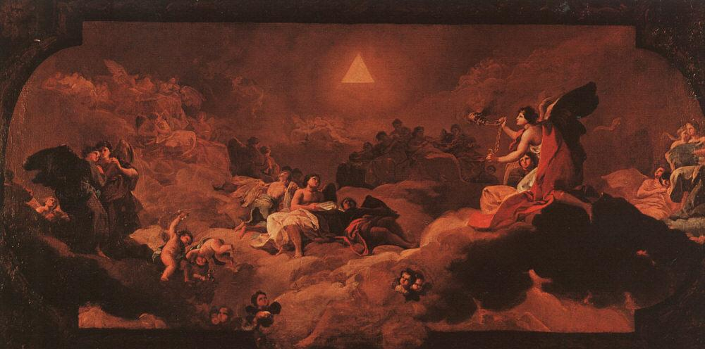The Adoration of the Name of The Lord - Francisco Goya