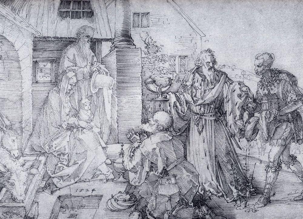 The Adoration Of The Wise Men - Albrecht Durer