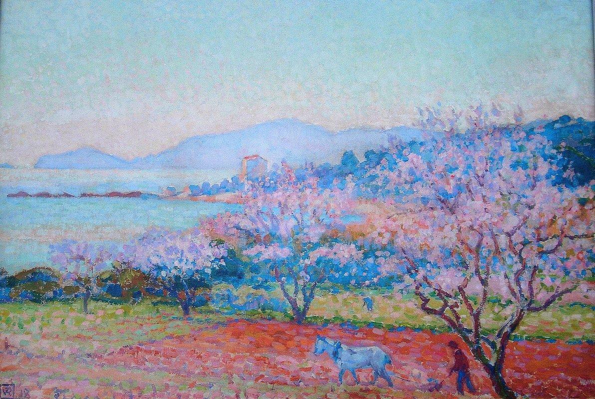 The Almond Flowers - Theo van Rysselberghe