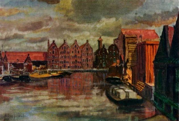 The Amsterdam Port  - Anna Ostroumova-Lebedeva