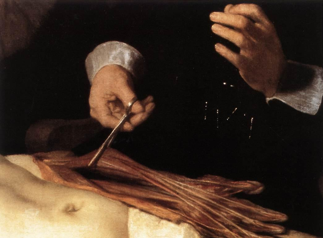 The Anatomy Lesson of Dr. Nicolaes Tulp(fragment) - Rembrandt ...